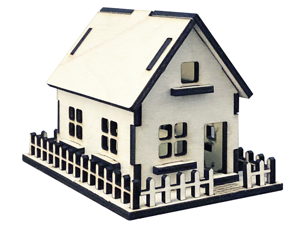 Free 3D Laser Cut Wood House Model Projects and Ideas