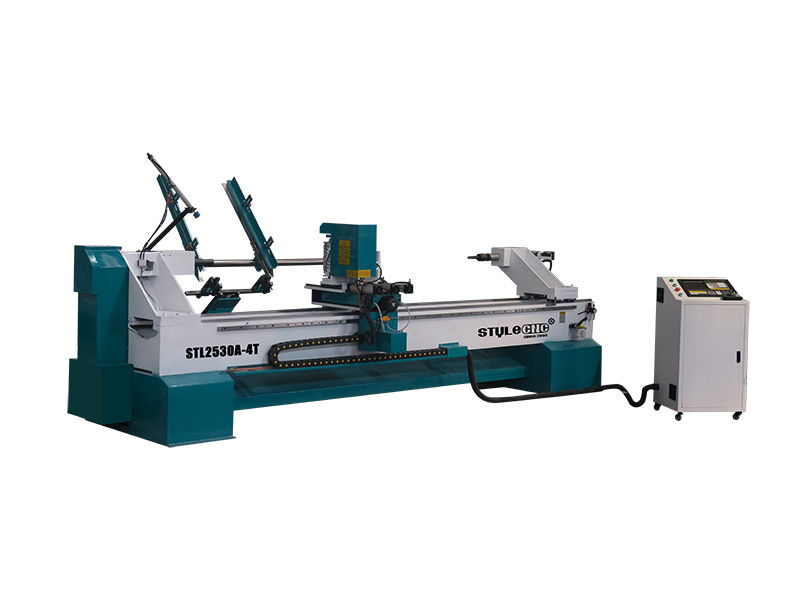 Multi-Functional CNC Wood Lathe with Automatic Loading System