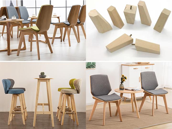 Furniture legs by CNC wood lathe