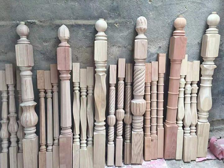 wood stairs cnc lathe