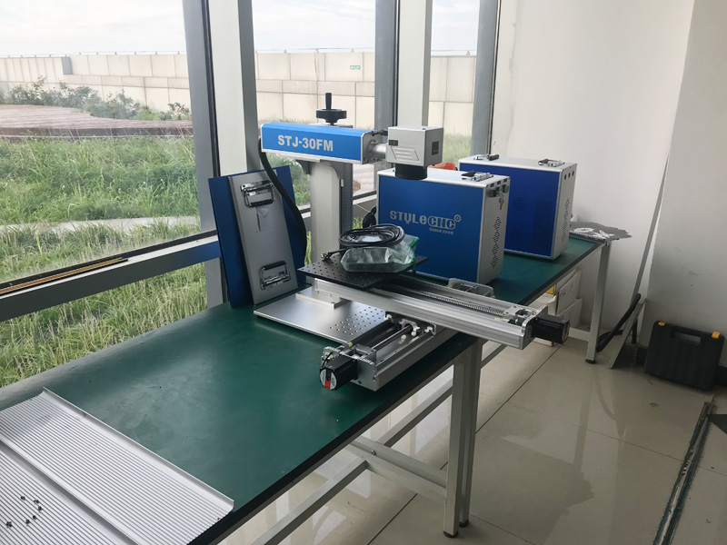 Fiber Laser Engraving Machine with XY 2-Axis Moving Table for 2D Workbench