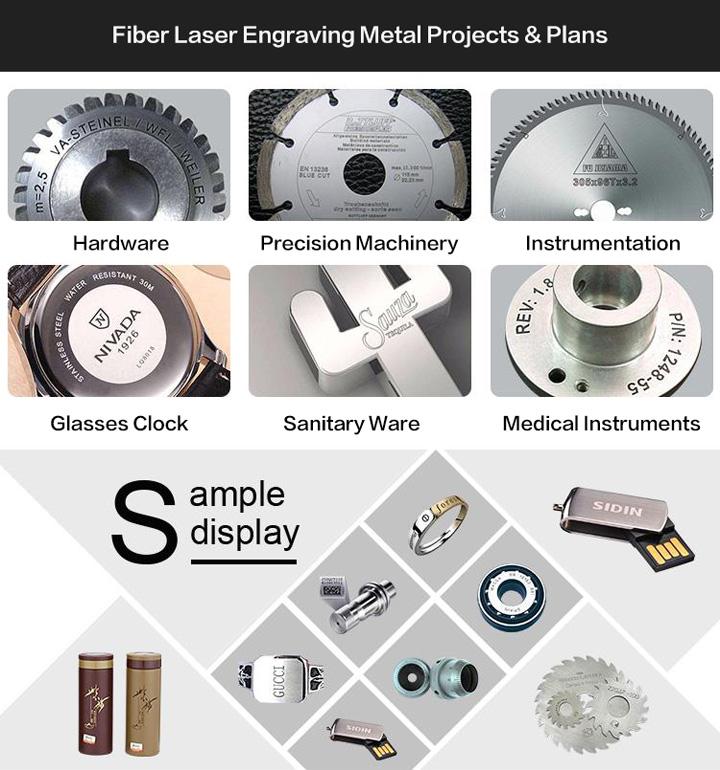 MOPA Fiber Laser Marking Machine Projects