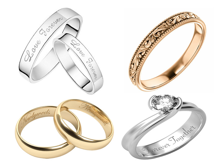 3D Rotary Laser Engraving Silver & Gold Ring Projects