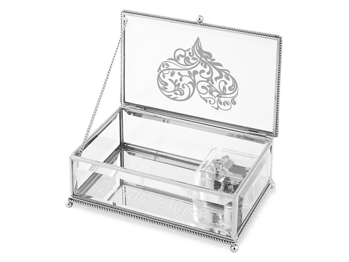 Laser Engraved Acrylic Jewelry Box