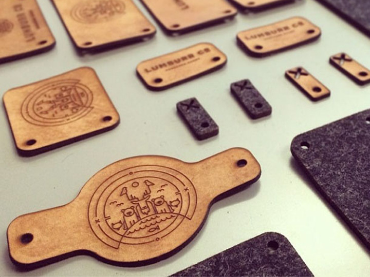 CO2 Laser Engraved Leather Tags