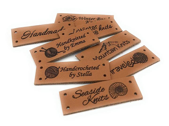 CO2 Laser Engraved Leather Labels