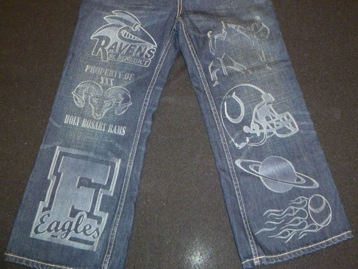 Laser Engraved Jeans Projects