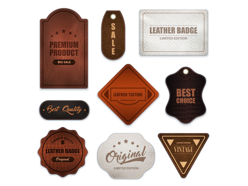 Laser Engraved Personalized Leather Patches