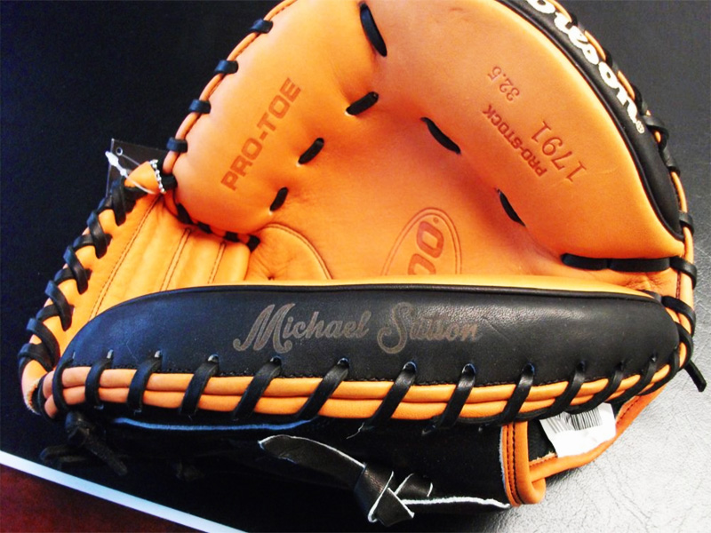Laser Engraved Personalized Leather Baseball Gloves