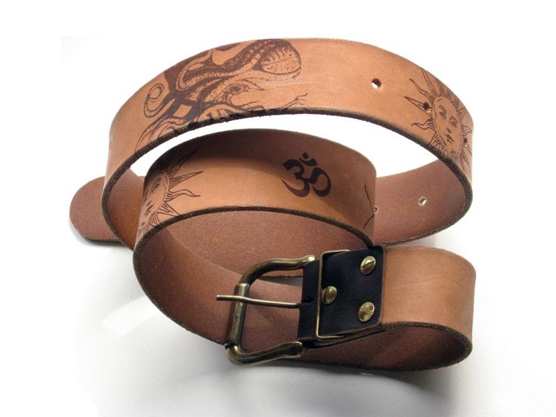 CO2 Laser Engraved Genuine Leather Belt