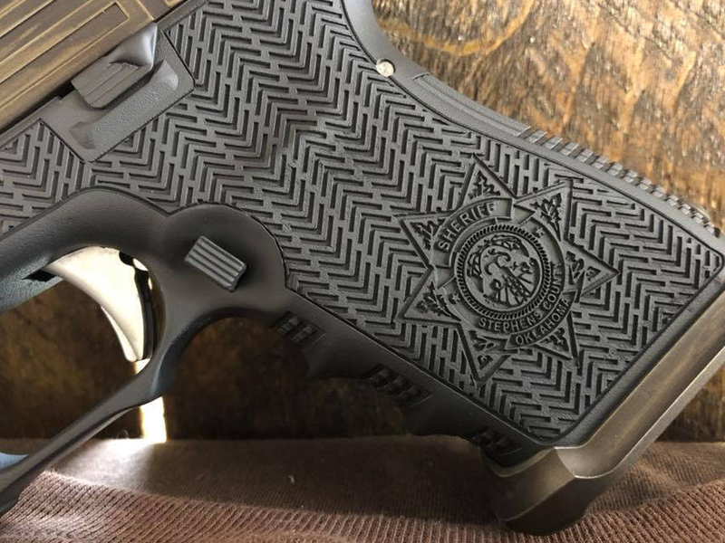 Laser Stippling Polymer Glock Grip for Guns