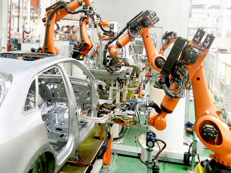 Industrial Fiber Laser Welding Robots in Automobile Manufacturing