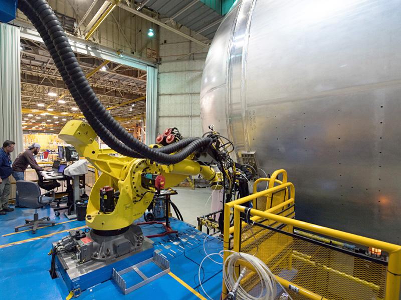 Laser Welding Robot for Rocket Welding
