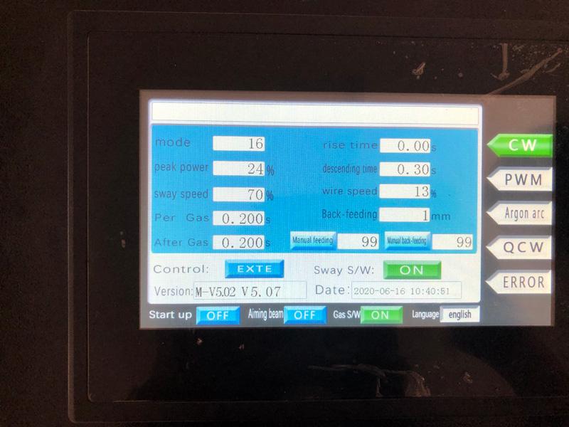 Handheld Laser Welding Machine Control System