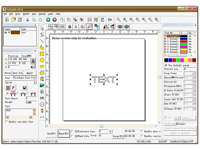 EZCAD Interface